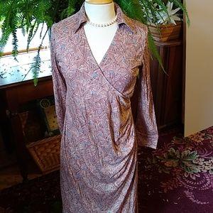 Diane Von Furstenberg Maternity Silk Dress Sz M
